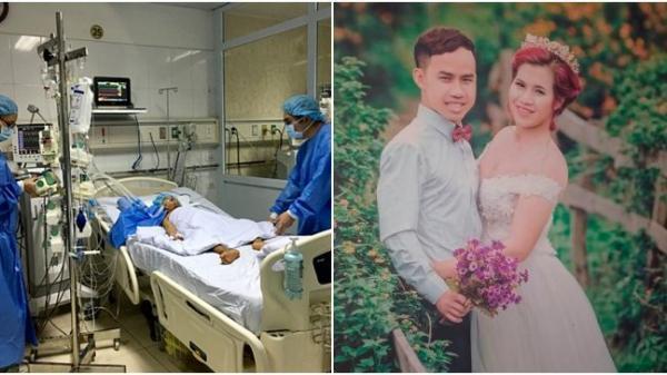 Phút tiễn biệt nghẹn ngào của người vợ trẻ mang thai trước lúc hiến t.ạng chồng