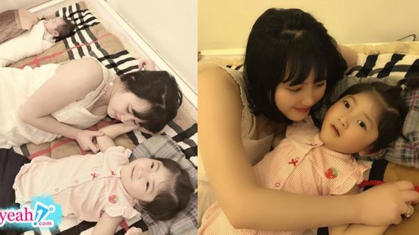 """Hình ảnh mới nhất của """"em bé Lào Cai"""" bên mẹ nuôi Thanh Tâm, đã có em nhưng vẫn được mẹ cưng nựng hết mực"""