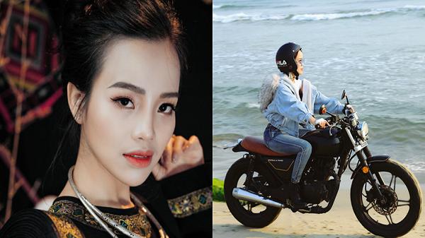 'Sao Mai' dân tộc Nùng đến từ Lào Cai sành điệu bên môtô