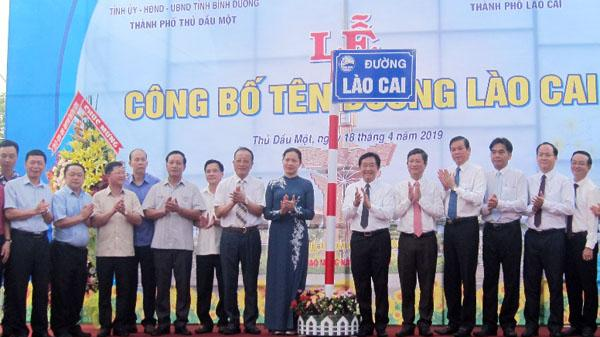 Đặt tên đường Lào Cai tại thành phố Thủ Dầu Một