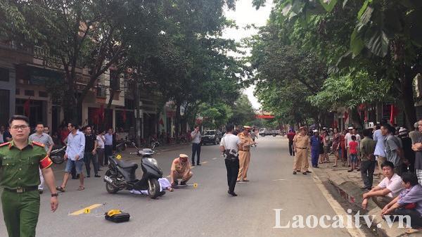 Ta.i nạ.n giao thông trên đường Hoàng Quốc Việt (Lào Cai) khiến 1 người t.ử v.ong tại chỗ