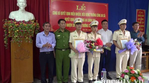 Bổ nhiệm cán bộ đảm nhiệm chức danh Trưởng Công an xã tại huyện Bảo Yên (Lào Cai)