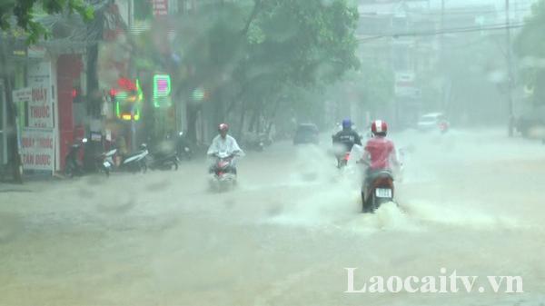 Các địa phương ở Lào Cai tiếp tục hứng mưa dông diện rộng