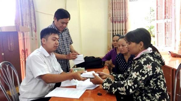 Chi trả tiền hỗ trợ dịch tả lợn châu Phi cho người dân ở Lào Cai