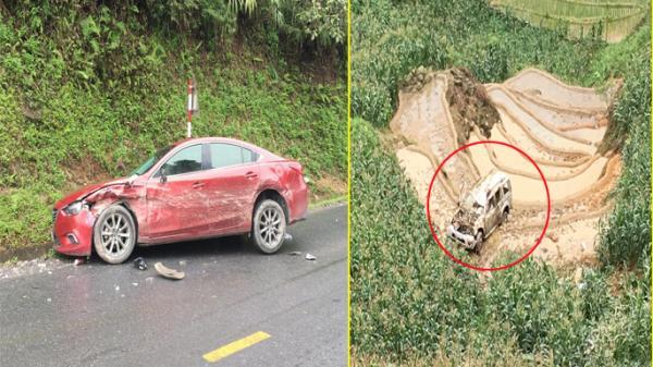 Tài xế xe 4 chỗ va chạm ô tô 7 chỗ lao xuống vực ở Lào Cai là công an