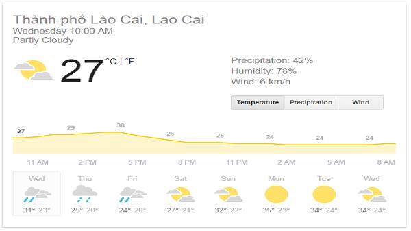 Không khí lạnh sắp tăng cường xuống Lào Cai