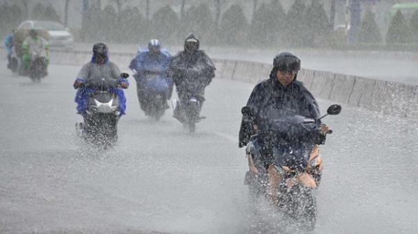 Ảnh hưởng áp thấp nhiệt đới, đêm nay miền Bắc mưa to