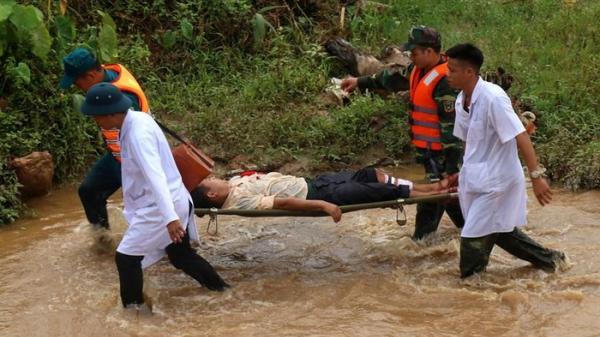 Diễn tập ứng phó lũ quét, sạt lở đất và cứu nạ.n ở Lào Cai