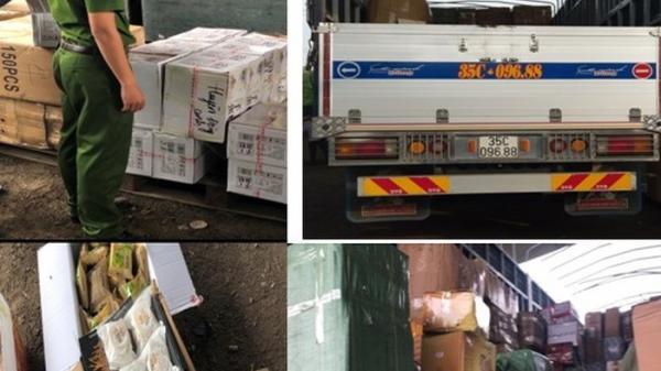 Phát hiện 2 xe tải chở gần 16.000 sản phẩm 'ngoại' gom từ Lào Cai về không rõ nguồn gốc