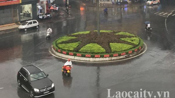 Hoàn lưu bão số 4 gây mưa trên diện rộng ở Lào Cai