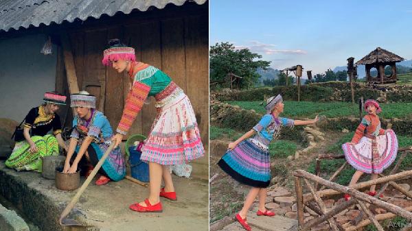 Chi Pu, Quỳnh Anh Shyn hóa gái bản trong ảnh du lịch Sa Pa (Lào Cai)