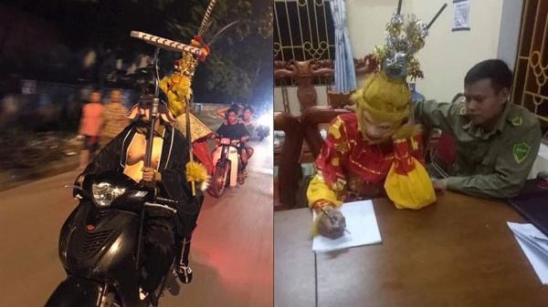 """""""Ngộ Không"""", """"Bát Giới"""" ở Lào Cai hết bị đánh lại đến bị cảnh sát mời về đồn vì móc túi"""