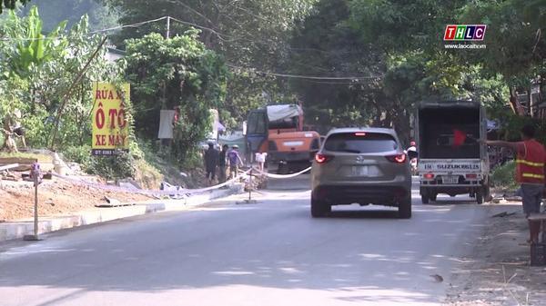 Gấp rút hoàn thành công trình sửa chữa, cải tạo Quốc lộ 4D đoạn qua Lào Cai