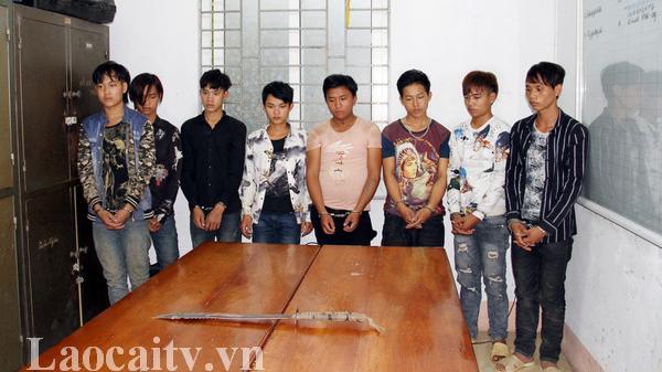 8 đối tượng cươ'p tài sản ở Bảo Thắng (Lào Cai) ra đầu thú