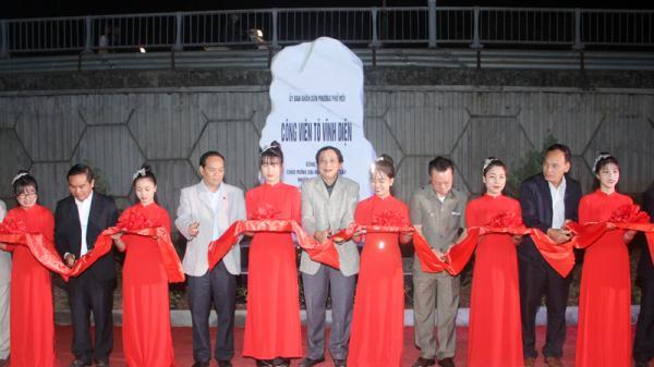 Phường Phố Mới (Lào Cai) khánh thành công viên Tô Vĩnh Diện