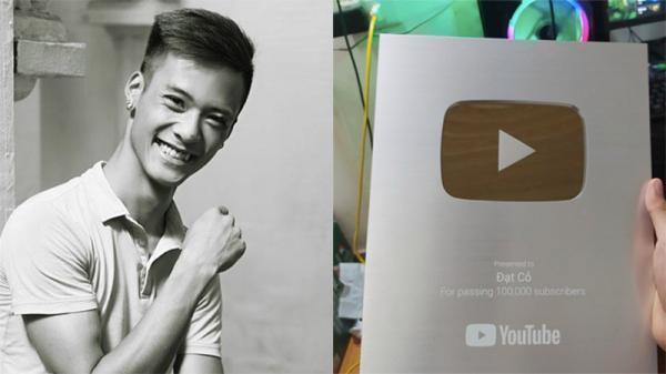 Kênh Youtube của 'Đạt Cỏ' bất ngờ nhận được nút bạc: Ước mơ đã thành sự thật