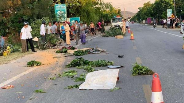 Xe tải tông nhiều xe đạp, 1 người phụ nữ tử vong tại chỗ, 2 người nhập viện cấp cứu
