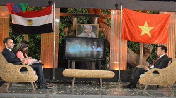 Truyền hình Ai Cập phát chương trình đặc biệt về Chủ tịch Hồ Chí Minh