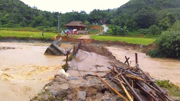 Bảo Yên: Mưa lớn gây ngập úng, chia cắt nhiều tuyến đường