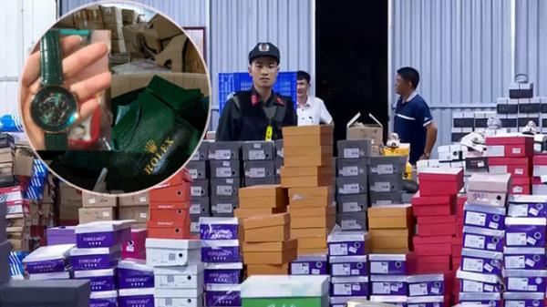 Bên trong kho hàng lậu rộng 10.000m2 tại Lào Cai: Hàng trăm nghìn mặt hàng giày dép, đồng hồ, túi xách nghi giả mạo Nike, Adidas, LV, Chanel, Gucci với doanh thu 10 tỷ đồng/tháng