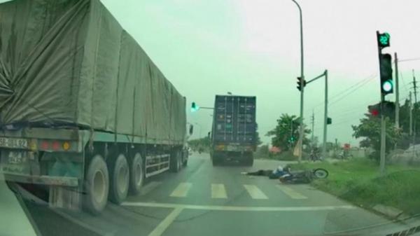 Xe container chạy ẩu tông nữ sinh viên trường Luật tử vong rồi bỏ trốn
