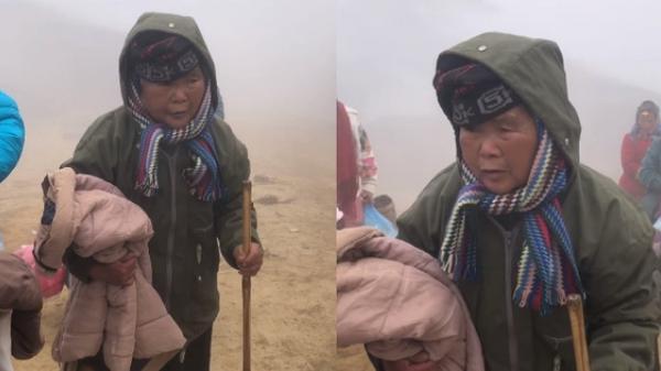 Clip: Cụ bà run cầm cập trong cái rét 1 độ ở Lào Cai, tay ôm chặt chiếc áo khoác được tặng khiến nhiều người nghẹn ngào