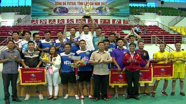 Kết thúc Giải vô địch bóng đá Futsal tỉnh Lào Cai 2017