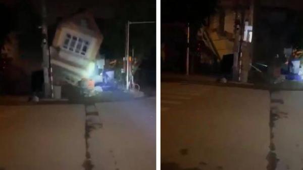 Clip: Đào móng xây nhà khiến nhà hàng xóm bị sập trong đêm, nhiều người hoảng hốt la hét thất thanh