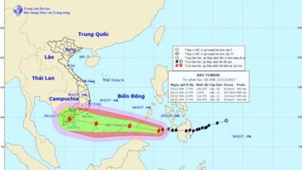 Lên phương án di dời gần 1 triệu dân đối phó bão Tembin