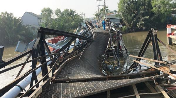 Toàn cảnh cầu Long Kiển bị xe tải làm sập