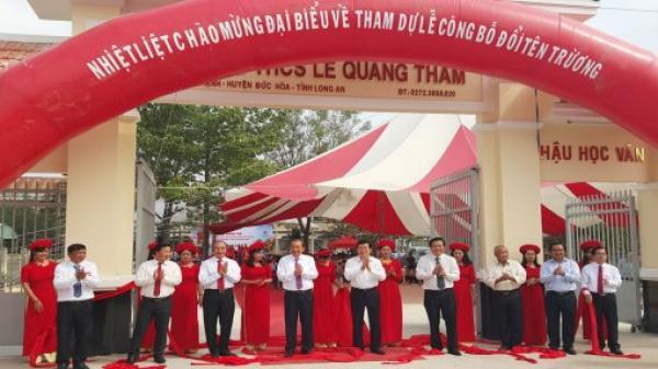 Đức Hòa: Nguyên Chủ tịch nước - Trương Tấn Sang, Phó Thủ tướng Thường trực Chính phủ - Trương Hòa Bình dự lễ đổi tên trường