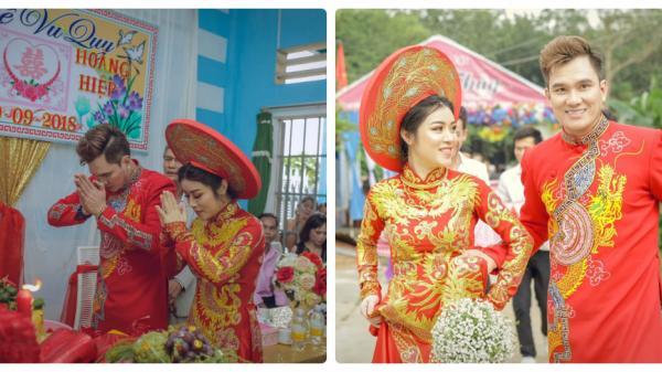 """Cận cảnh đám cưới đơn giản mà ấm áp của """"ca sĩ hội chợ"""" Lâm Chấn Huy ở quê nhà"""