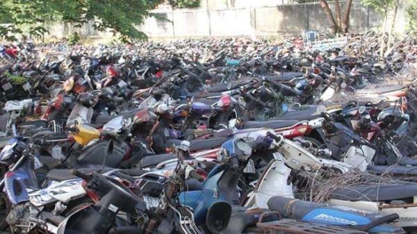 Tìm chủ sở hữu 26 xe môtô tạm giữ ở TP Hồ Chí Minh
