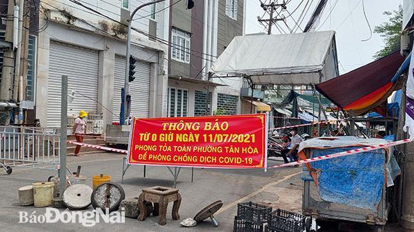 Tiếp tục cách ly 5 phường ở Biên Hòa đến hết ngày 29-8