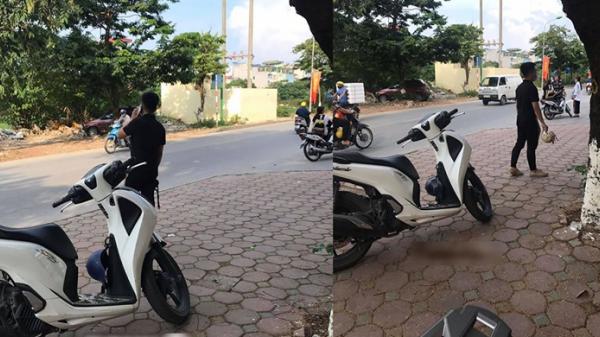 Thanh niên đi xe tay ga ngỡ ngàng khi bạn gái lên ô tô của người khác