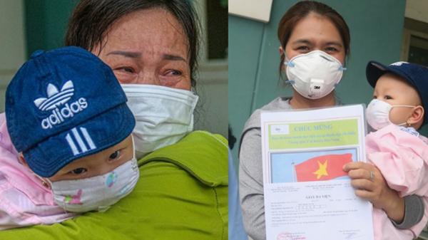 Nghẹn ngào giây phút bé 8 tháng tuổi ở Đà Nẵng chiến thắng COVID-19 về với gia đình