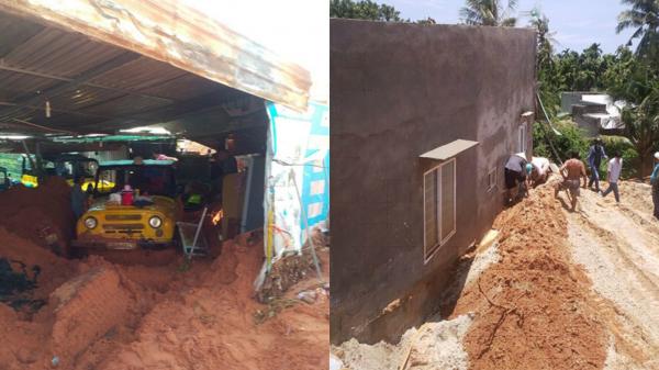 Bình Thuận: Khắc phục tình trạng sạt lở, cát tràn do mưa lớn