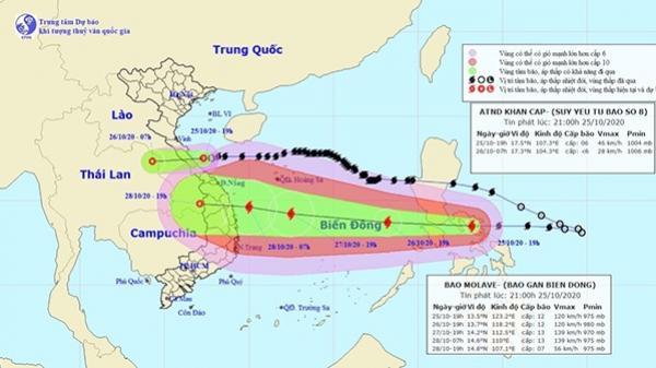 Bão số 9 nhắm thẳng miền Trung, có thể là cơn bão mạnh nhất từ đầu năm