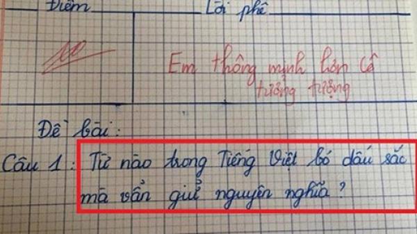 Từ nào trong Tiếng Việt bỏ dấu sắc nhưng vẫn giữ nguyên nghĩa?