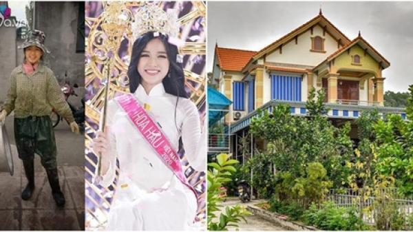 Tân hoa hậu Đỗ Thị Hà tiết kiệm từng đồng đi thi, bố mẹ ở quê nhà to nhất vùng