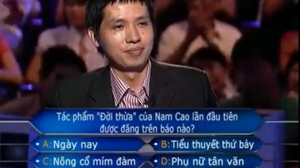 """Người đầu tiên xác lập kỷ lục tại Ai Là Triệu Phú: Tham gia chương trình để """"chiều lòng vợ"""""""