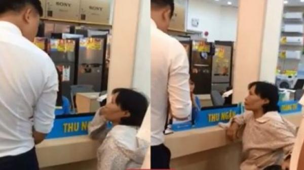 Một phụ nữ ra Điện Máy Xanh mua 8 triệu thẻ cào điện thoại, nhân viên siêu thị phải ngăn
