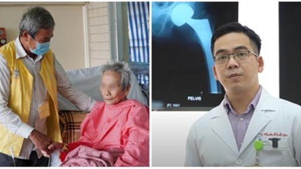 Con trai xúc động khi mẹ già 106 tuổi được thay khớp cổ xương đùi thành công sau khi té từ giường xuống đất