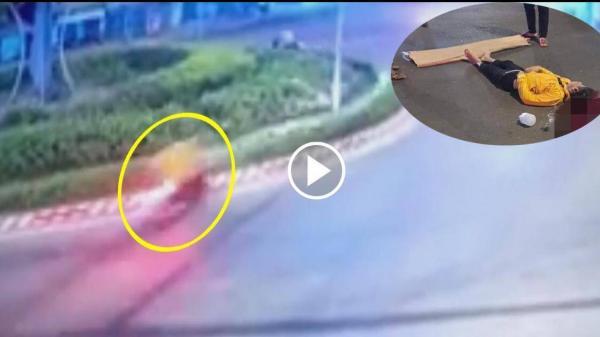 """Video: Thanh niên ở Bình Thuận đi tốc độ """"tử thần"""", lao vào vòng xoay tử vong"""
