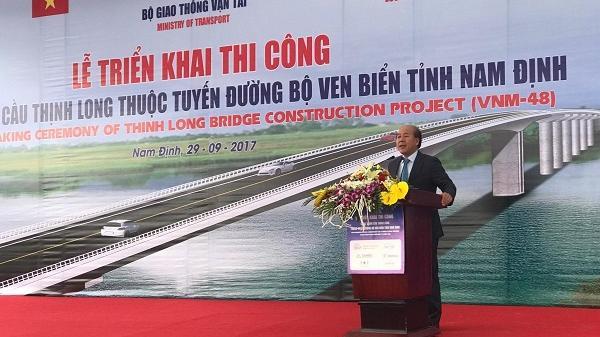 Chính thức khởi công đường trục nối vùng biển Nam Định với cao tốc huyết mạch