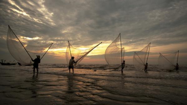 Cuộc sống yên bình trên vùng biển Hải Lý, Nam Định