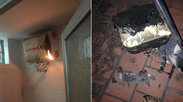Thêm một vụ cháy bình nóng lạnh khi quên tắt lúc sử dụng: Đừng đùa với thần chết!