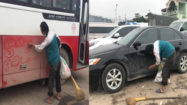 Người đàn ông đi khắp nơi vẽ 'rồng phượng' lên xe đầy bụi bẩn, dân Nam Định nhao nhao tiết lộ thân phận cực đau lòng