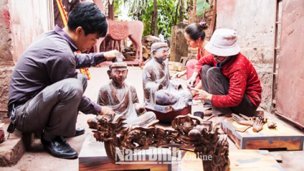 Ý Yên, Nam Định: Vinh danh di sản nghề Sơn Mài Cát Đằng