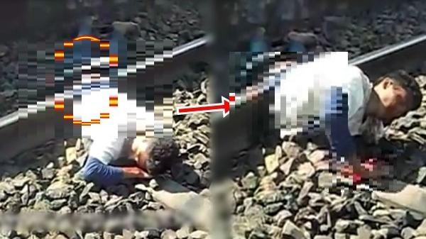 Thất tình lao đầu vào đường tàu tự tử, thanh niên bị tàu cán đứt đôi người vẫn sống